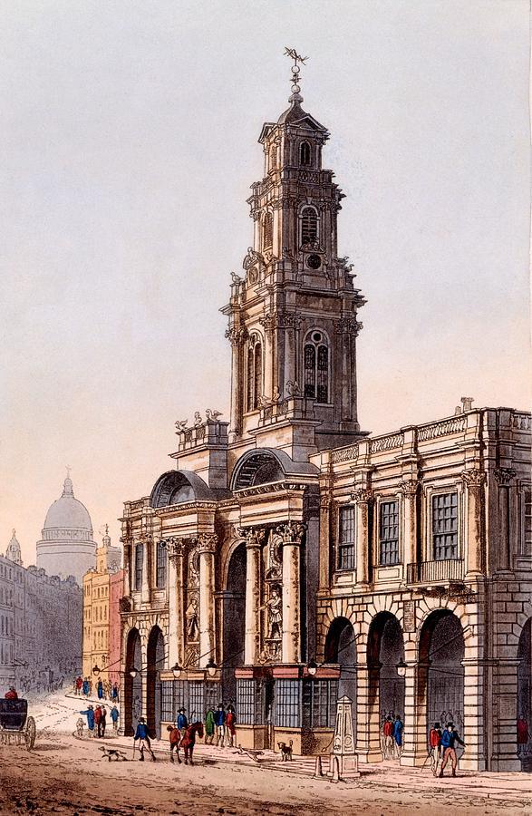 Royal Exchange Drawing - The Royal Exchange, 1816 by Rudolph Ackerman