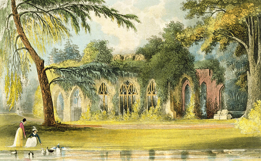 Ruins Painting - The Ruins   Frogmore by John Gendall