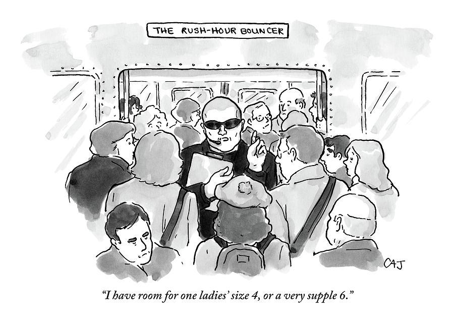 The Rush Hour Bouncer Drawing by Carolita Johnson