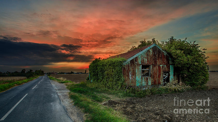 Sunset Photograph - The Rustic Barn by Pete Reynolds