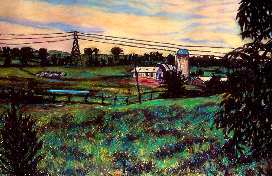 Farms Painting - The Rusty Silo by Kendall Kessler