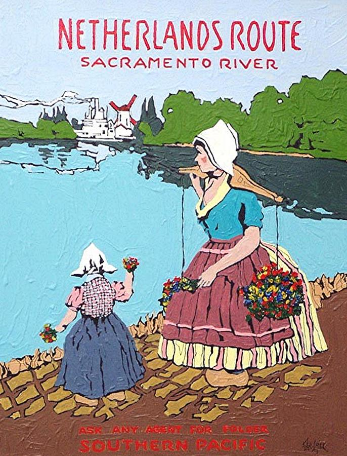Sacramento Painting - The Sacramento River by Paul Guyer