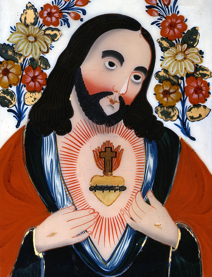 The Sacred Heart Painting - The Sacred Heart by Hungarian School