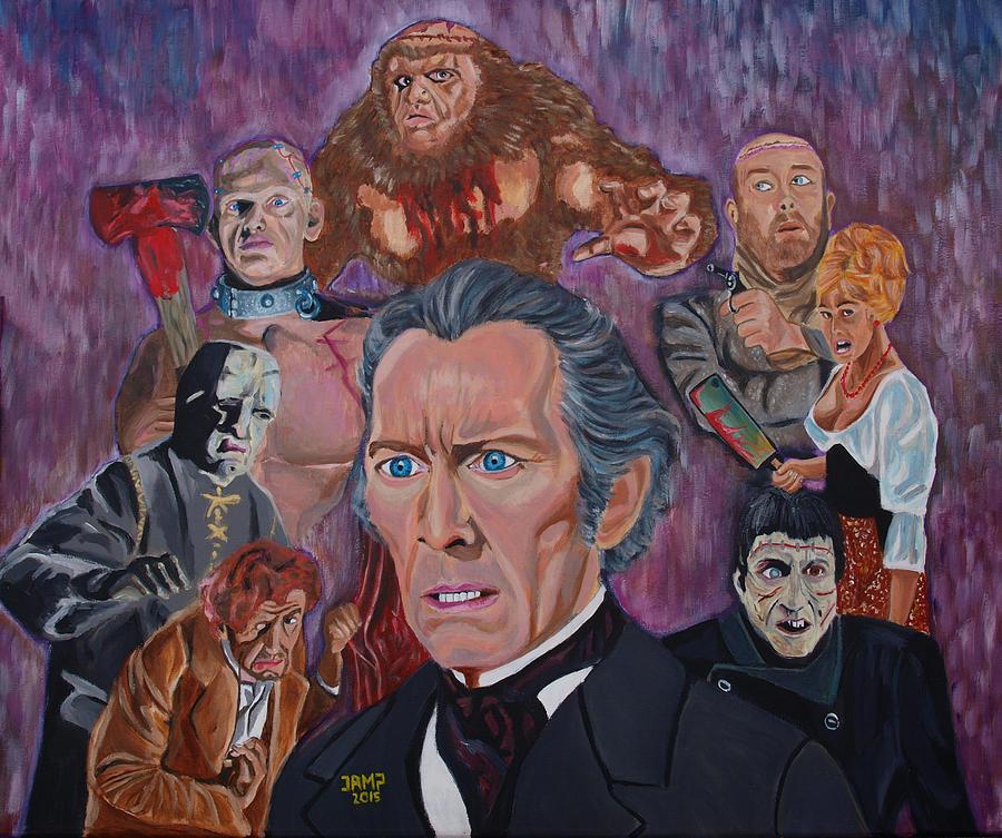 Frankenstein Painting - The Saga Of Frankenstein by Jose Mendez