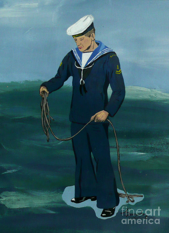 Sailor Painting - The Sailor by Anthony Dunphy