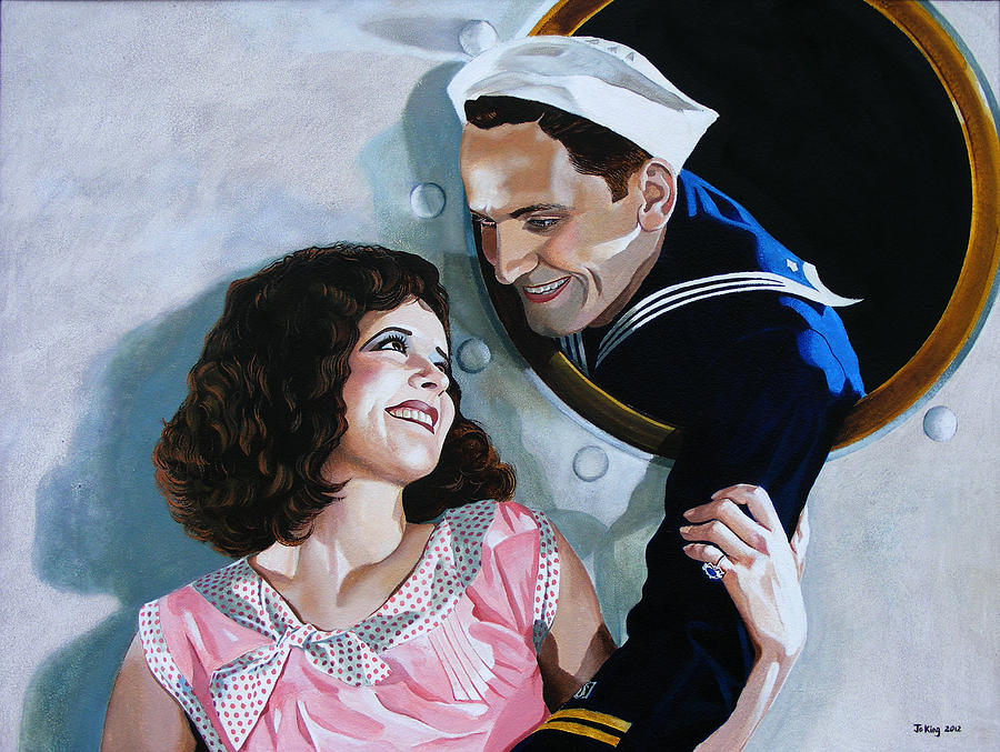 Celebrity Painting - The Sailors Return - Clara Bow by Jo King