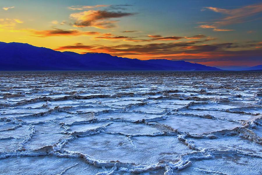 The Salt Flats At Sunset Photograph by David Toussaint