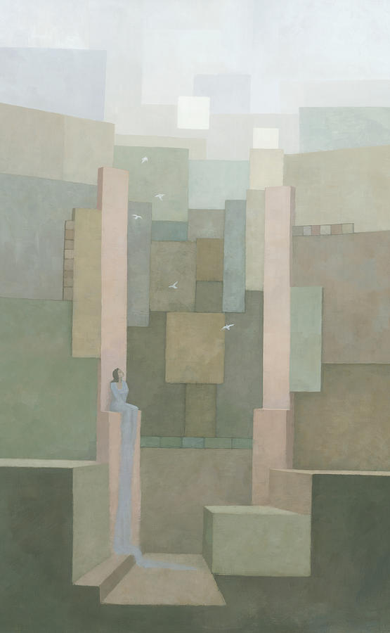 Muted Painting - The Salt Palace by Steve Mitchell