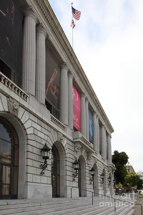 San Francisco Photograph - The San Francisco War Memorial Opera House - San Francisco Ballet 5d22585 by Wingsdomain Art and Photography