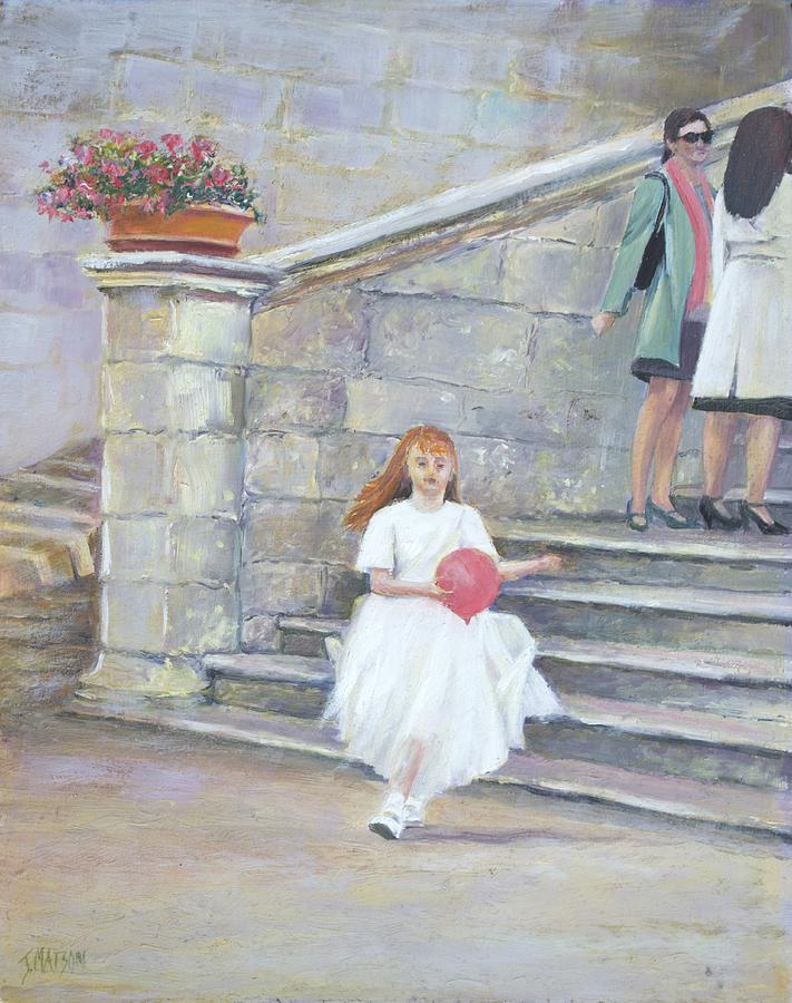 San Gimignano Painting - The San Gimignano Wedding Party by Jan Matson