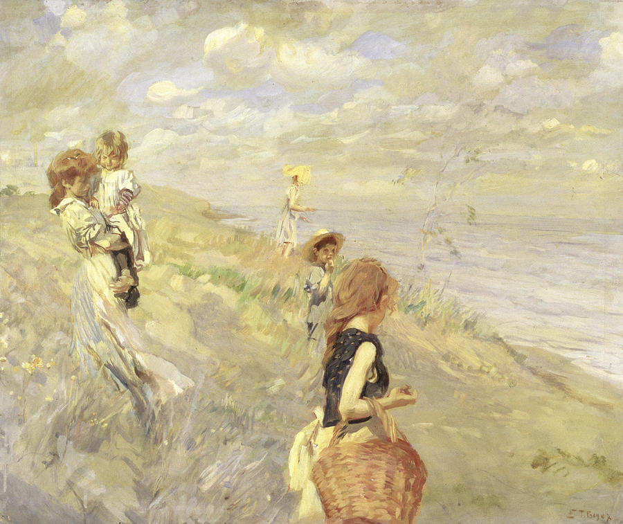 Landscape Painting - The Sand Dunes by Ettore Tito