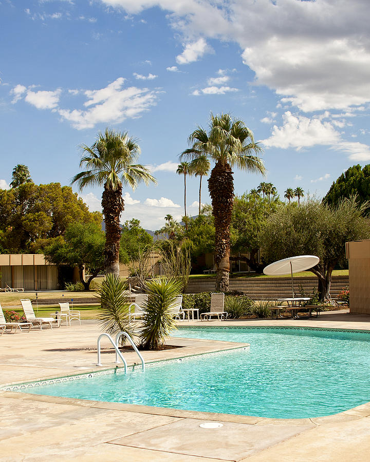 Sandpiper Photograph - The Sandpiper Pool Palm Desert by William Dey