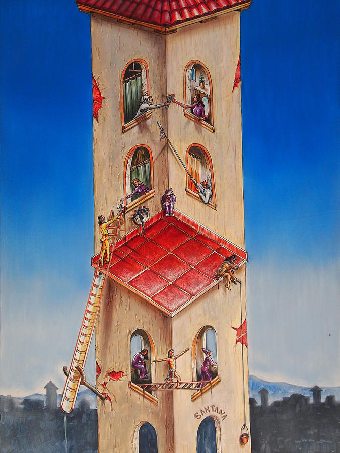 Tower Painting - The Santana Building by Dayna Reed