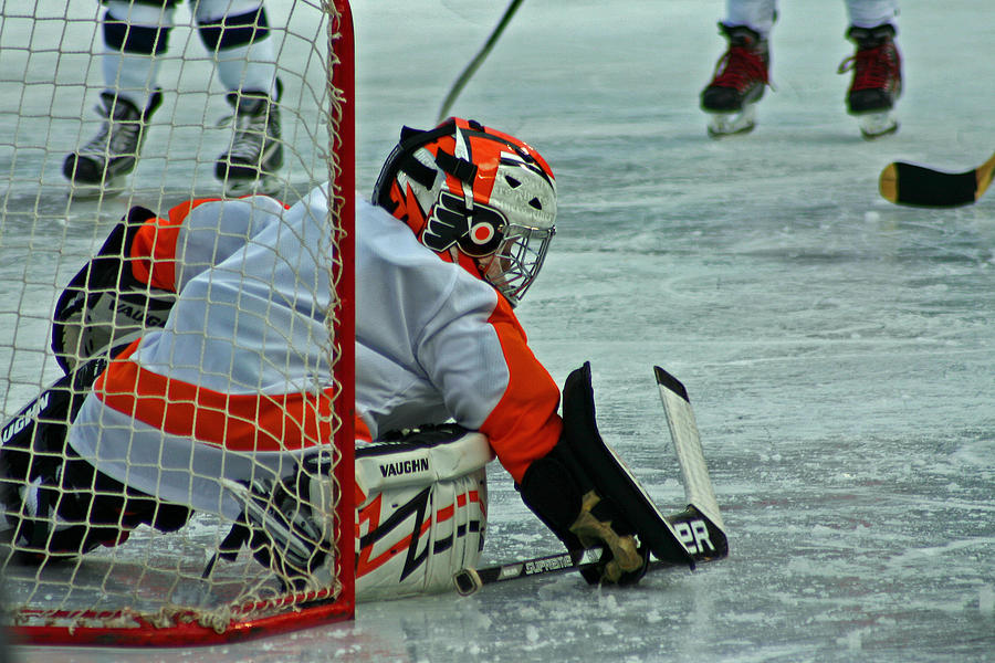 Hockey Photograph - The Save by David Rucker