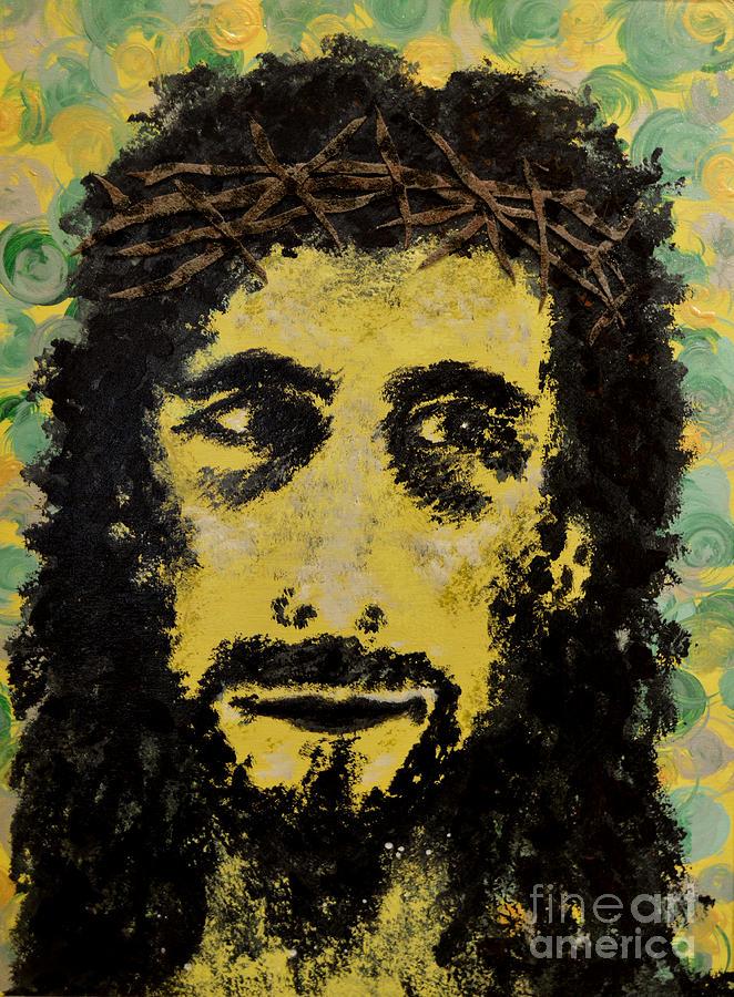 Jesus Painting - The Savior by Alys Caviness-Gober