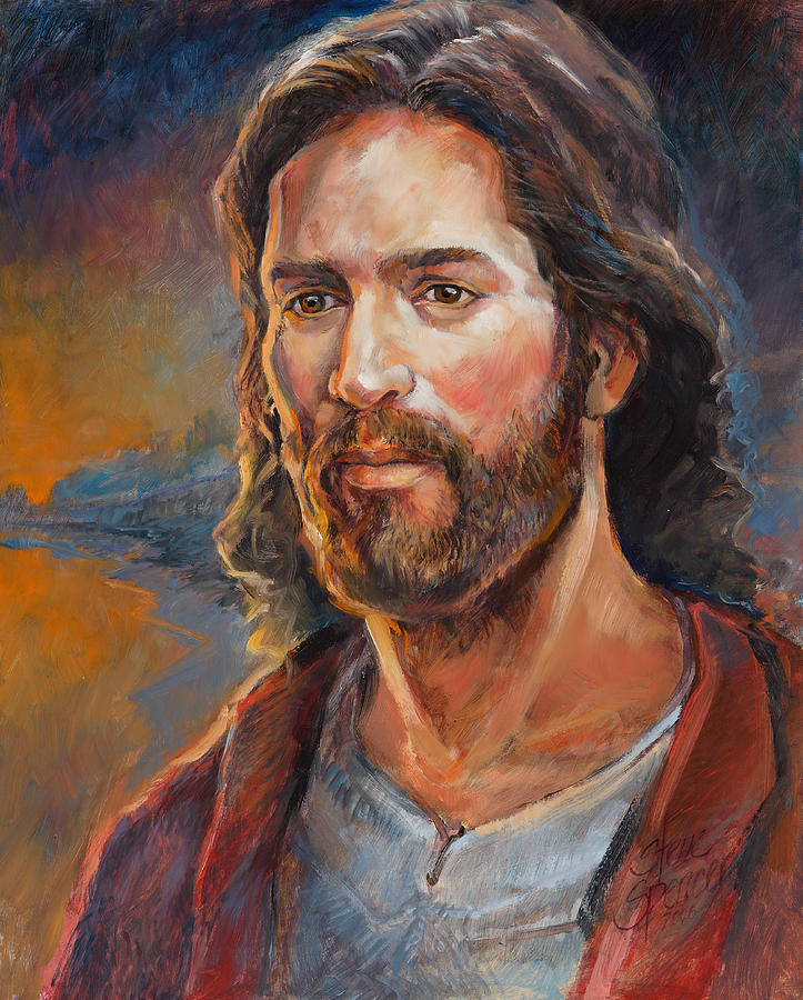 Religious Painting - The Savior by Steve Spencer