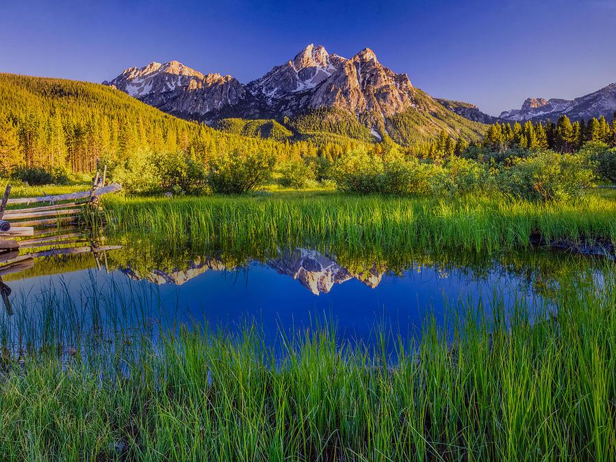 The Sawtooth Mountain Range, Stanley Idaho Photograph by Ron and Patty Thomas