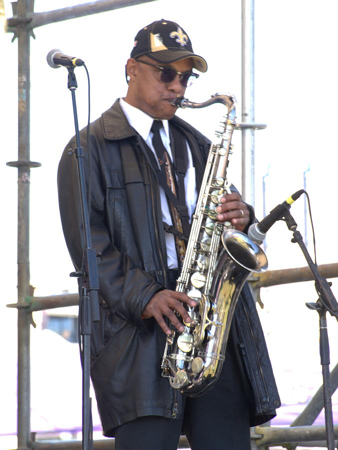 Saxophone Photograph - The Saxophone Player by Anthony Walker Sr