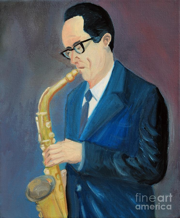 Musician Painting - The Saxophonist by Kostas Koutsoukanidis
