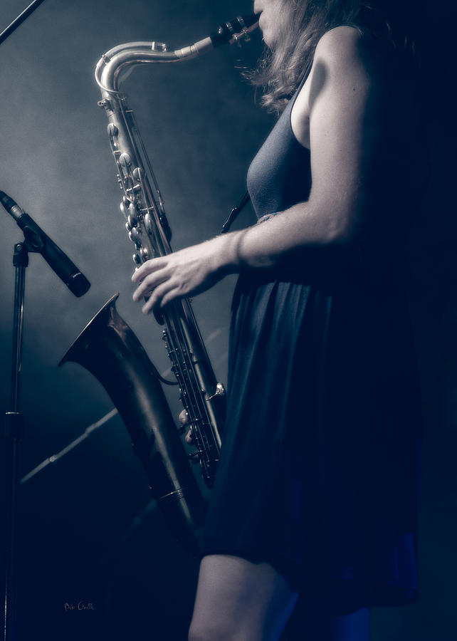 Sax Photograph - The Saxophonist Sounds In The Night by Bob Orsillo