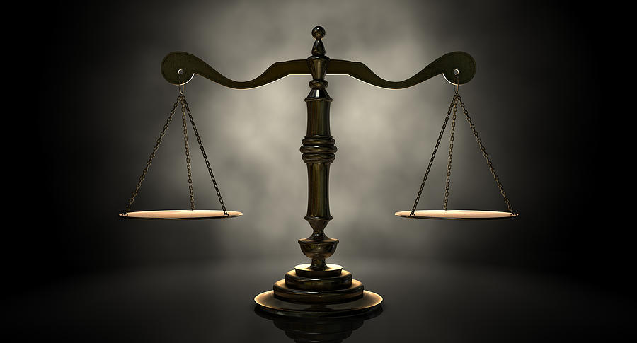 The Scales Of Justice Digital Art by Allan Swart