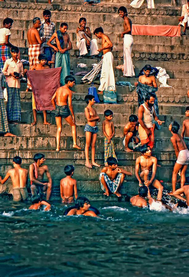Varanasi Photograph - The Scolding by Steve Harrington