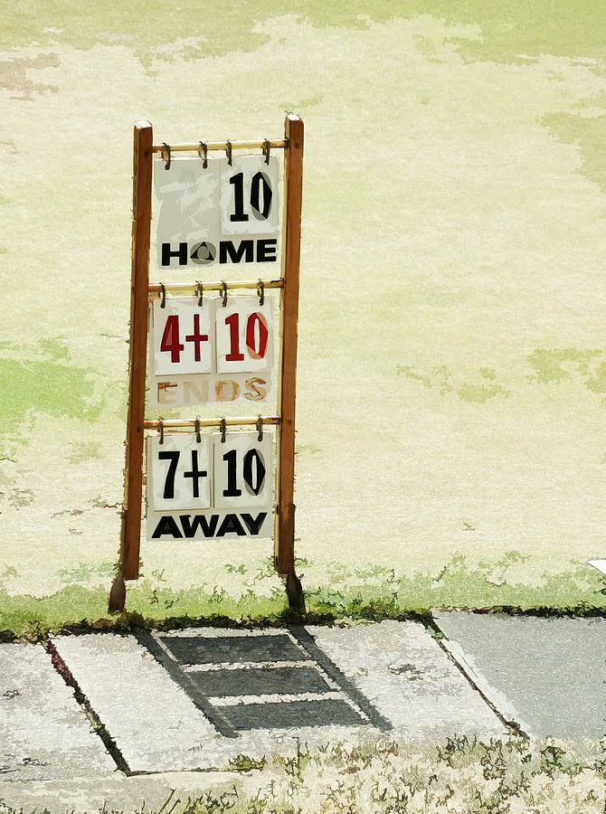 Bowls Photograph - The Score Board by Steve Taylor