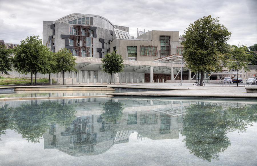 Scottish Photograph - The Scottish Parliament by Ross G Strachan