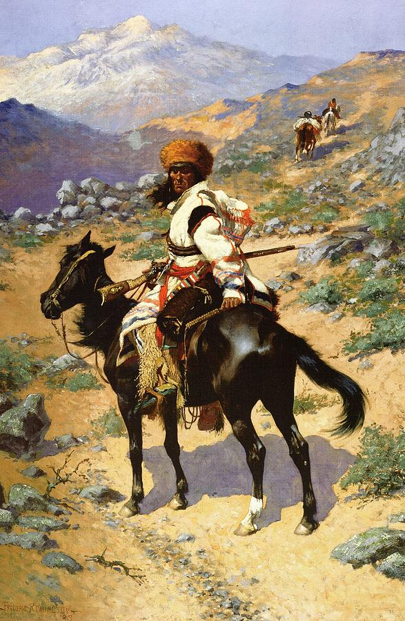 Frederic Remington Digital Art - The Scout Friends Or Enemies by Frederic Remington