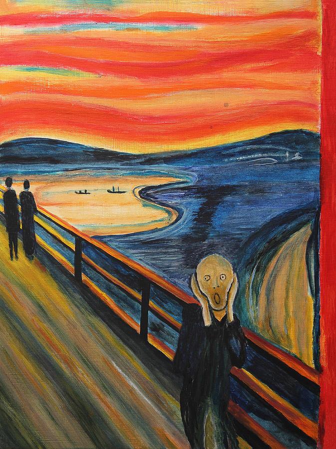Scream Painting - The Scream by Nirdesha Munasinghe