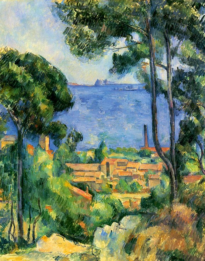 Cambridge Painting - The Sea At The Estaque by Paul Cezanne
