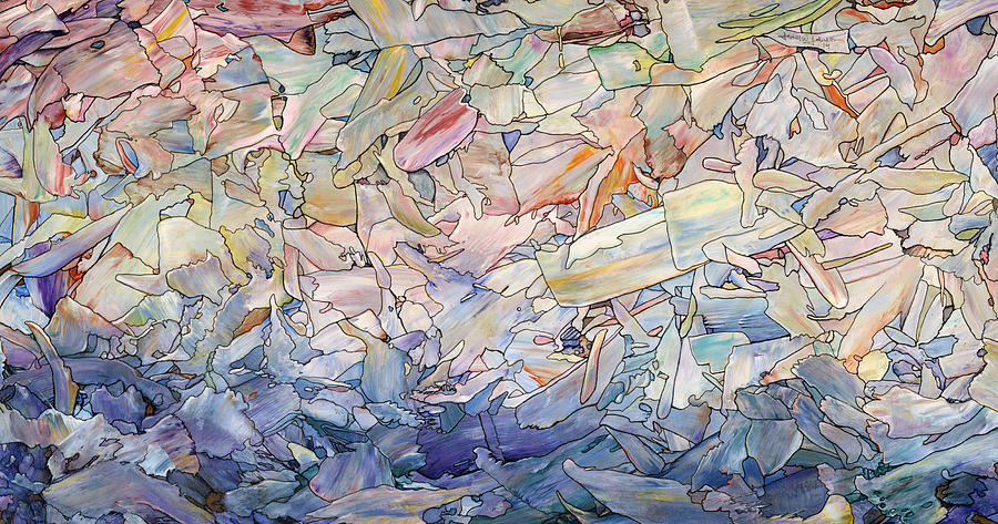 Sea Painting - Fragmented Sea by James W Johnson