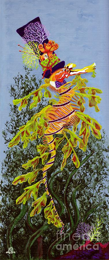 Sea Horse Painting - The Sea Hatter by KJ Swan
