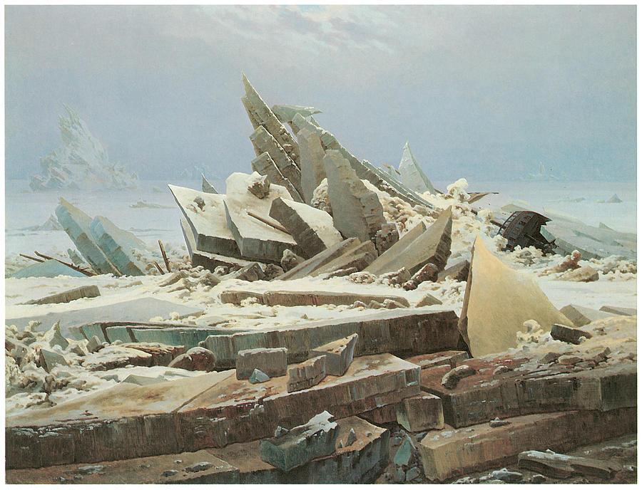 Caspar David Friedrich Painting - The Sea Of Ice by Caspar David Friedrich