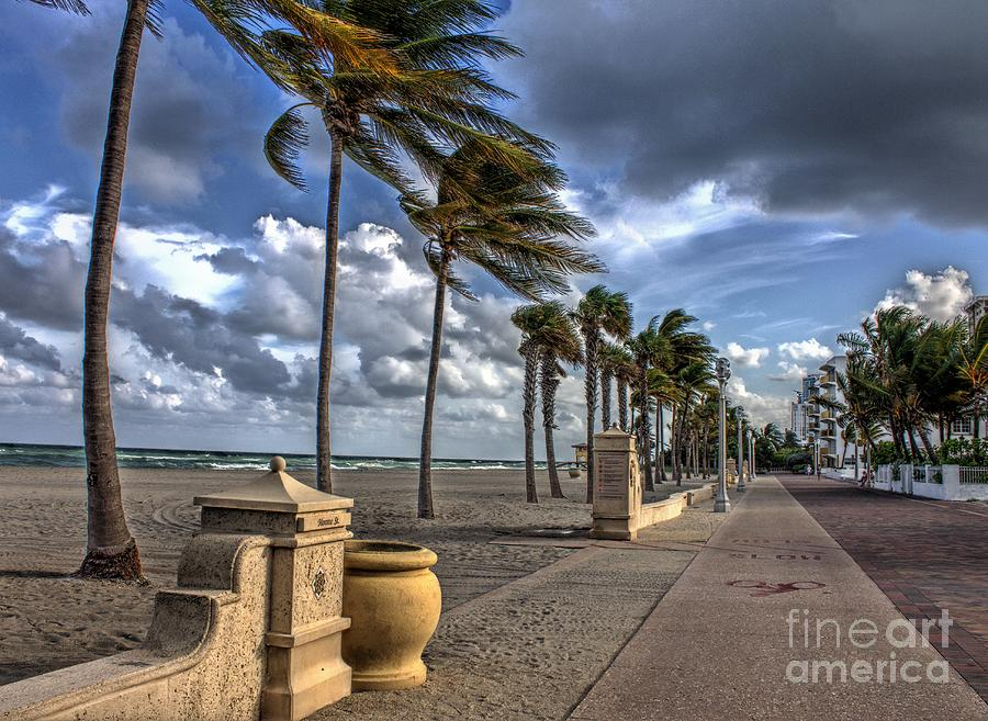Hollywood Boardwalk Photograph - The Sea The Wind And The Road by Ines Bolasini