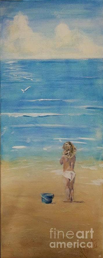 Child Painting - The Seagulls by Almeta LENNON