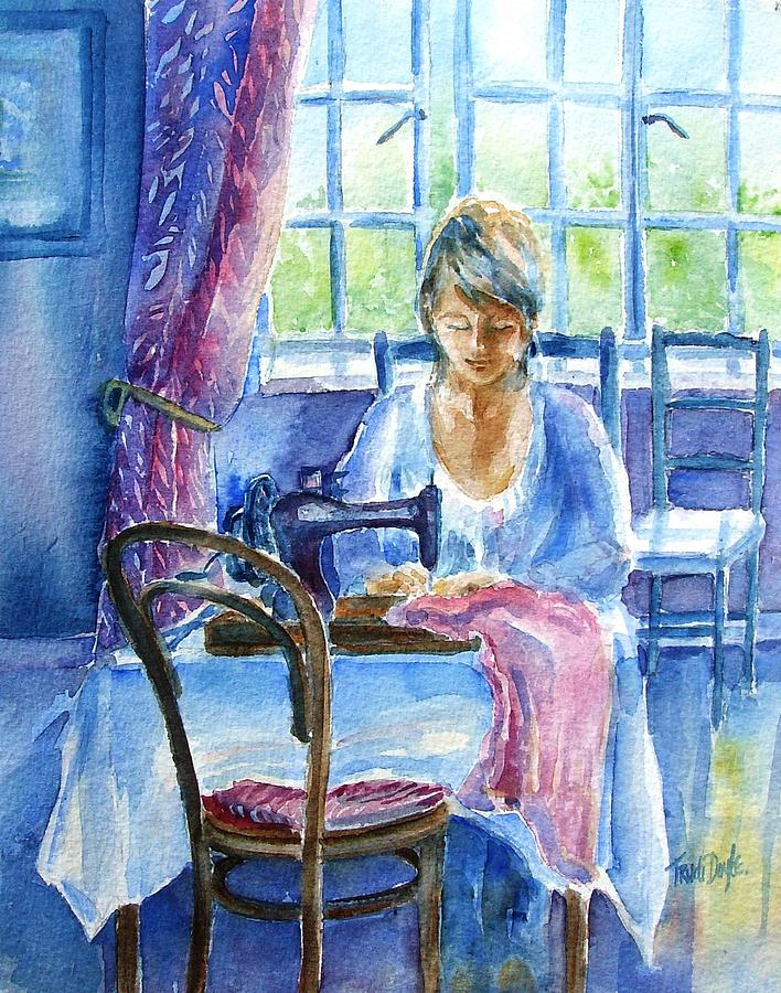 Seamstress Painting - The Seamstress by Trudi Doyle