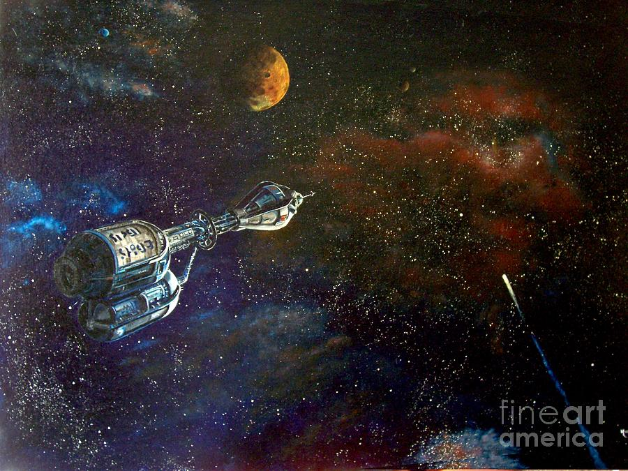 Astro Painting - The Search For Earth by Murphy Elliott