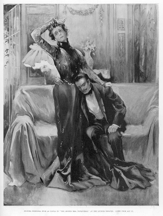 Theatre Drawing - The Second Mrs Tanqueray, Eleonora Duse by  Illustrated London News Ltd/Mar