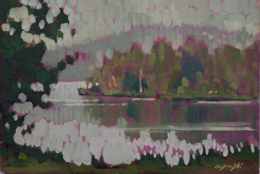 The Second Pond Painting by Len Stomski