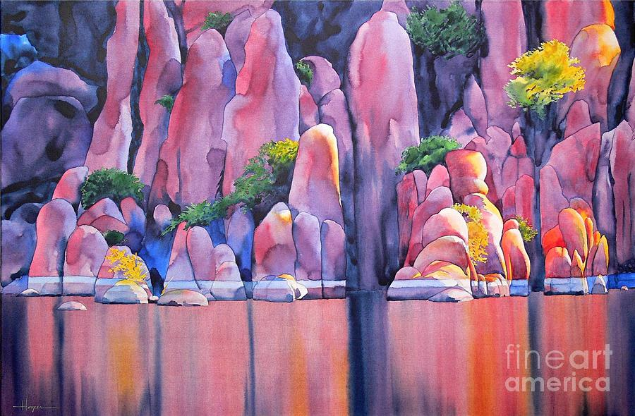 Watercolor Painting - The Secret Cove by Robert Hooper
