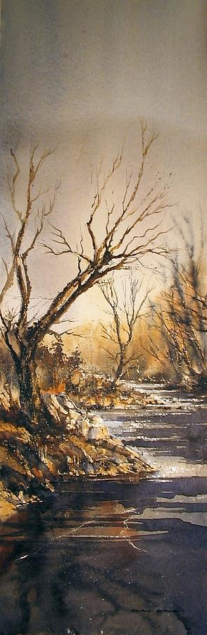 Landscape Painting - The Secret Stream by Roland Byrne