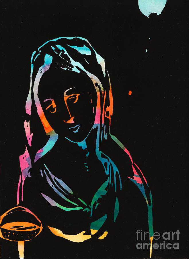 Woman Painting - The Seedbearers - No 2 by Milliande Demetriou