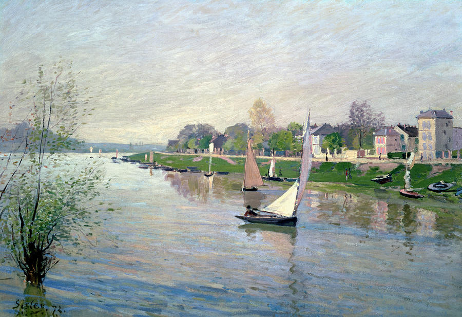 Impressionism Painting - The Seine At Argenteuil by Alfred Sisley