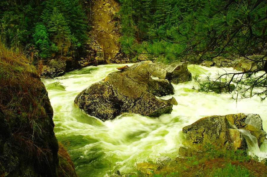 Rocks Photograph - The Selway River by Jeff Swan