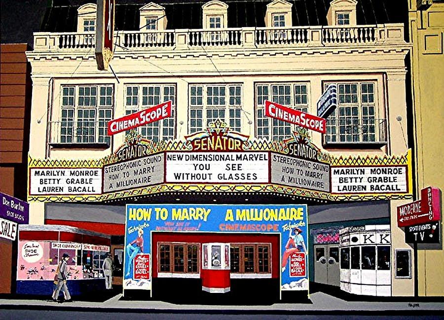 Sacramento Painting - The Senator Theatre by Paul Guyer