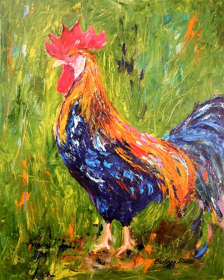 Rooster Painting - The Sentinel by Barbara Pirkle