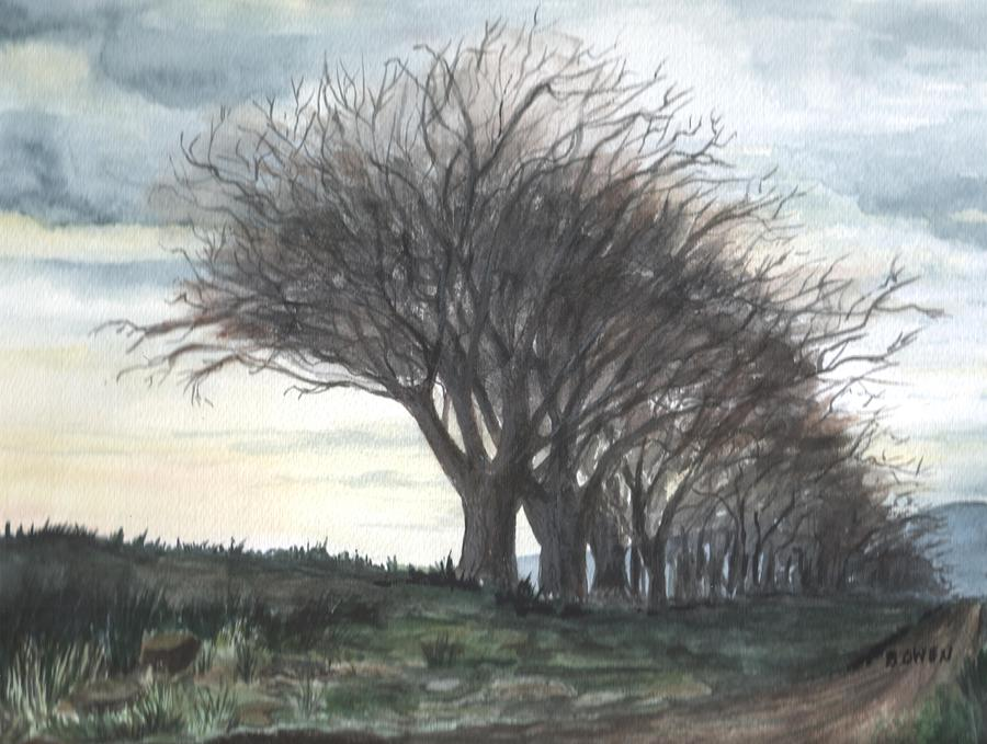 Watercolor Painting - The Sentinels by Brenda Owen