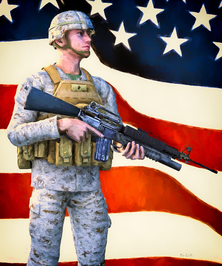 Patriotic Painting - The Sentry by Bob Orsillo