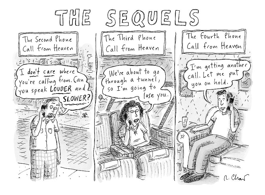 The Sequels 3 Panels Parodying A Book Called Drawing by Roz Chast